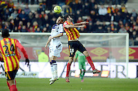 Dragos Grigore / Pierrick Valdivia - 14.03.2015 - Lens / Toulouse - 29eme journee de Ligue 1<br /> Photo : Andre Ferreira / Icon Sport