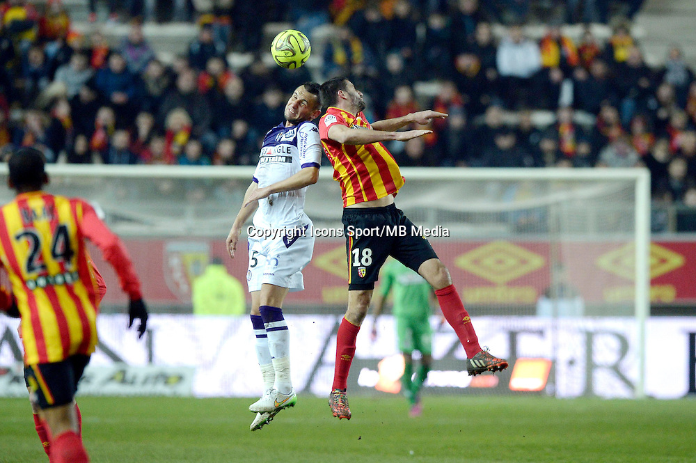 Dragos Grigore / Pierrick Valdivia - 14.03.2015 - Lens / Toulouse - 29eme journee de Ligue 1<br /> Photo : Andre Ferreira / Icon Sport