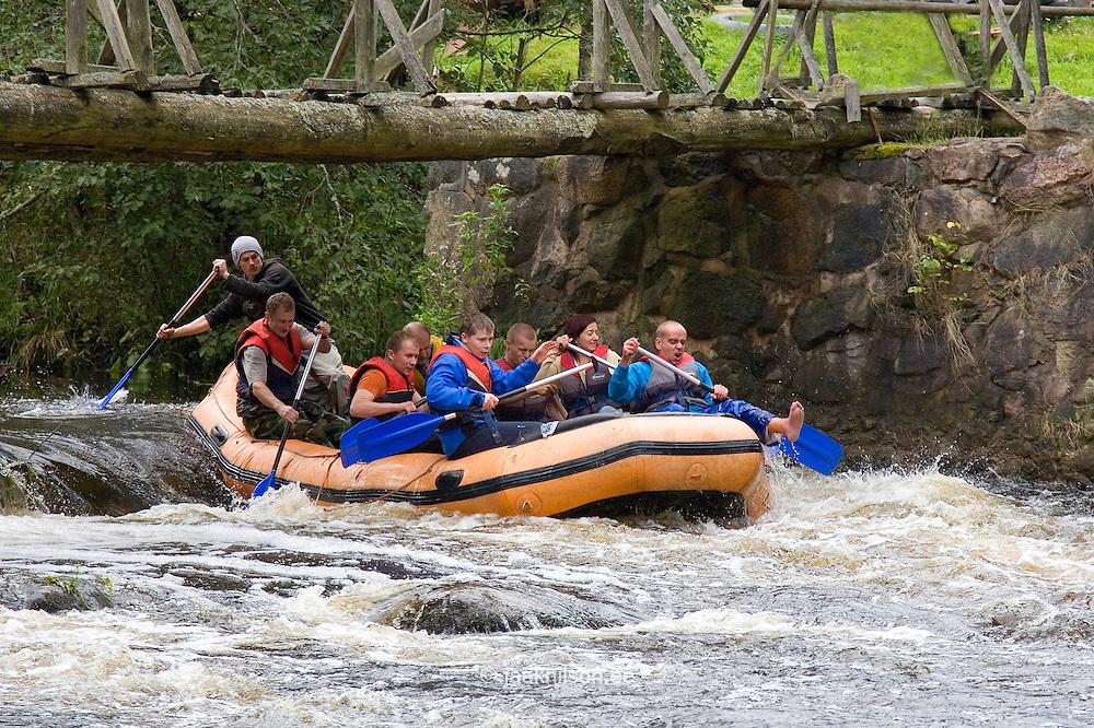 Rafting on Võhandu River, Põlva County, Estonia