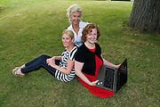 Hazel Hendi, Web activate co-ordinator with  Aishling Hyland, Tír na nÓg and  Jacinta Lynam, web activator. Photo:Andrew Downes..