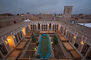 A view of part of the city of Yazd from Mehr hotel in Yazd, Iran.