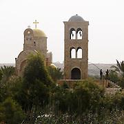 Israel, Jordan River, Near Jericho, Qasr al Yahud. St John the Baptist monastery