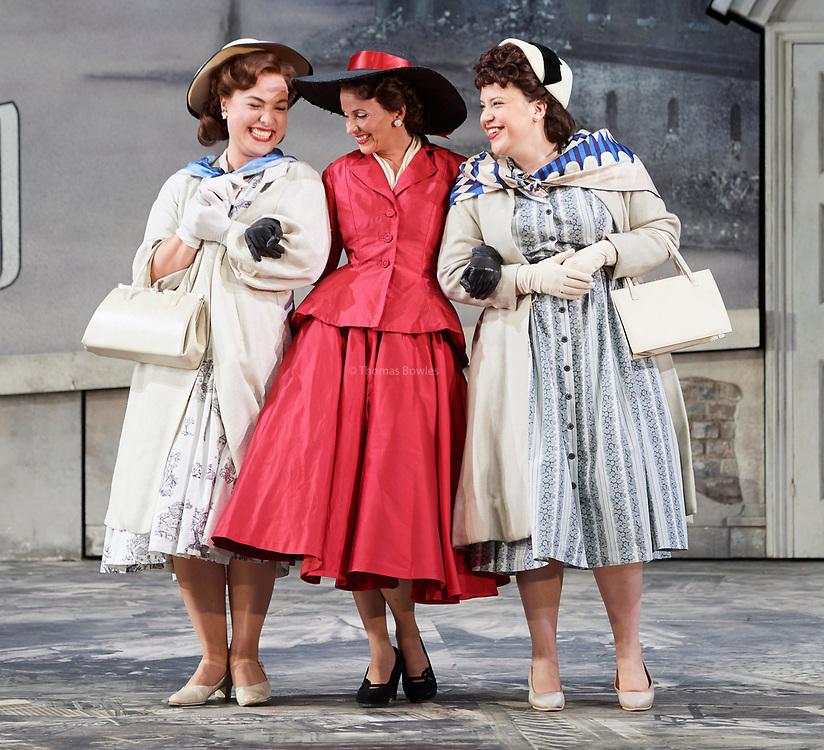 23nd June 2017.Il Turco in Italia, Rossini  at Garsignton Opera. <br /> <br /> Fiorilla - Sarah Tynan (in red)