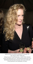 MRS LUCIEN THYNNE at a party in London on 15th March 2001.	OMG 66