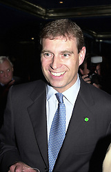 HRH The DUKE OF YORK  at a party in London<br />  on 11th May 2000.ODT 19