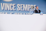 ROME. PRIME MINISTER SILVIO BERLUSCONI DURING THE DEMOSTRATION OF PEOPLE OF FREEDOM PARTY
