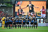 Fotball<br /> Belgia<br /> Foto: PhotoNews/Digitalsport<br /> NORWAY ONLY<br /> <br /> Supporters and Fans in memory & honour of Mertens Gregory defender of Sporting Lokeren  during the Jupiler Pro League play off 1 match between Standard Liège and Club Brugge on May 2, 2015 in Liege, Belgium.