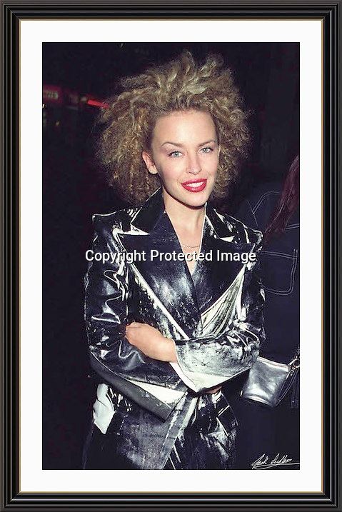 kylie minogue Piccadilly London 1994<br /> A2 Museum-quality Archival signed Framed Print (Limited Edition of 5)