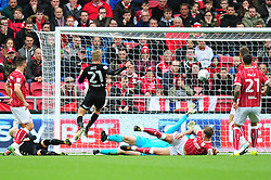 Samu Saiz of Leeds United scores  - Mandatory by-line: Dougie Allward/JMP - 21/10/2017 - FOOTBALL - Ashton Gate Stadium - Bristol, England - Bristol City v Leeds United - Sky Bet Championship
