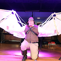 Libby Ezell | BUY at PHOTOS.DJOURNAL.COM<br /> Aeronaut cosplay with collapsable wings