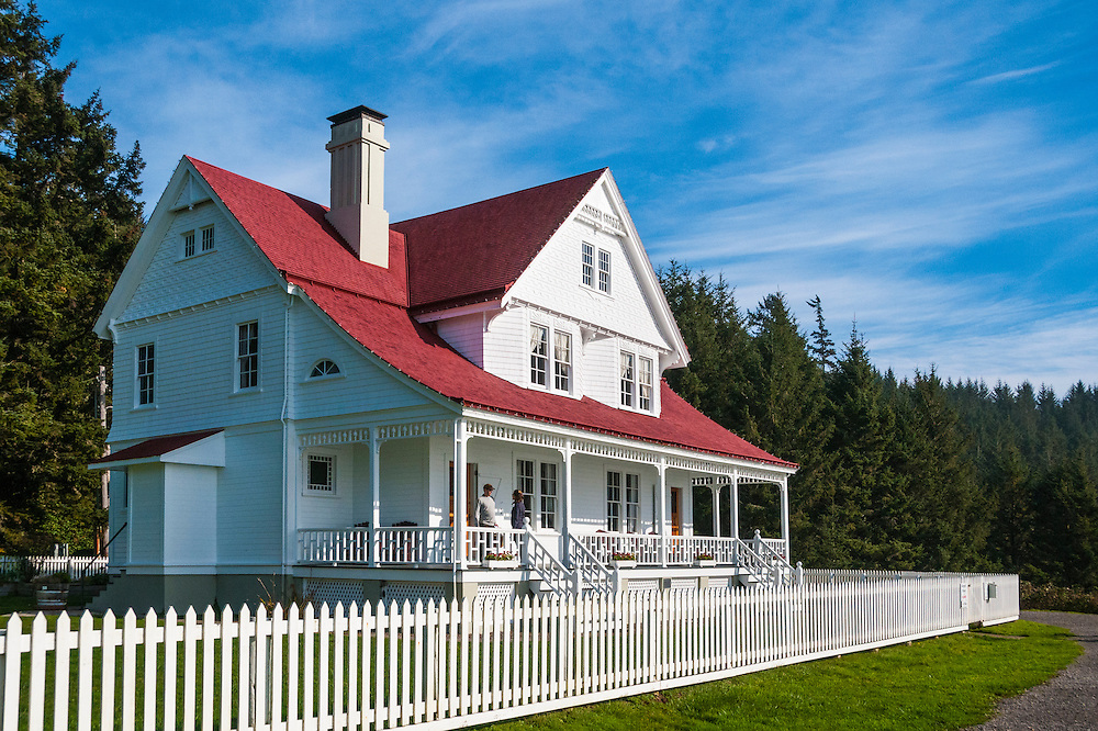 Light Keeper's House at Heceta Head Lighthouse State Park, Oregon Coast.