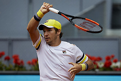 May 11, 2018 - Madrid, Madrid, Spain - Dusan Lajovic of Serbia in action in his quarter final match against Kevin Anderson of South Africa during day seven of the Mutua Madrid Open tennis tournament at the Caja Magica on May 11, 2018 in Madrid, Spain  (Credit Image: © David Aliaga/NurPhoto via ZUMA Press)