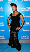 Chrisette Michelle poses at the 2009 UNICEF Snowflake Ball Arrivals in New York City on December 2, 2009.