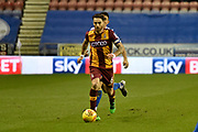 Bradford City midfielder Romain Vincelot (6) during the EFL Sky Bet League 1 match between Wigan Athletic and Bradford City at the DW Stadium, Wigan, England on 18 November 2017. Photo by Richard Holmes.