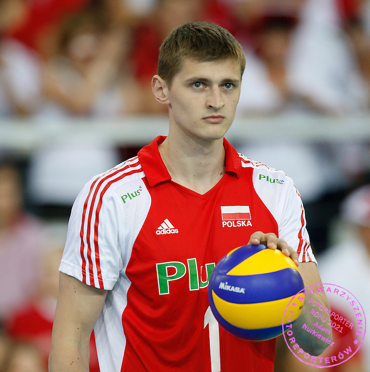 LODZ 28/06/2008.VOLLEYBALL WORLD LEAGUE 2009.POLAND v BRAZIL.PIOTR NOWAKOWSKI /POL/.FOT. PIOTR HAWALEJ / WROFOTO.