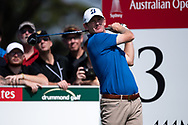 Brandt Snedeker (USA) on the third tee at Day 1 of The Emirates Australian Open Golf at The Lakes Golf Club in Sydney, Australia.
