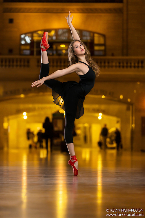 Dance As Art The New York City Photography Project Grand Central Terminal Series with dancer Anastasia Fedorova