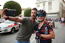 Kasia Niewiadoma (POL) poses for a selfie after Giro Rosa 2018 - Stage 10, a 120.3 km road race starting and finishing in Cividale del Friuli, Italy on July 15, 2018. Photo by Sean Robinson/velofocus.com