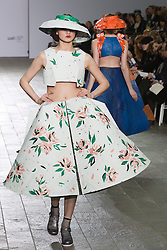 © Licensed to London News Pictures. 28/05/2013. London, England. Print collection by Jolene Fung. Central St Martins BA Fashion show with collections by graduate fashion students. Photo credit: Bettina Strenske/LNP