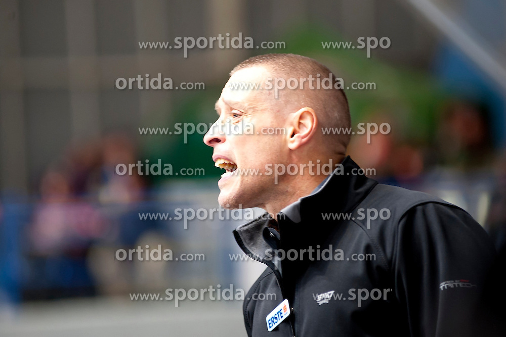 04.10.2015, Ice Rink, Znojmo, CZE, EBEL, HC Orli Znojmo vs HDD TELEMACH Olimpija Ljubljana, 8. Runde, im Bild Head Coach Fabien Deklem // during the Erste Bank Icehockey League 8th round match between HC Orli Znojmo and Moser Medical Graz 99ers at the Ice Rink in Znojmo, Czech Republic on 2015/10/04. EXPA Pictures © 2015, PhotoCredit: EXPA/ Rostislav Pfeffer