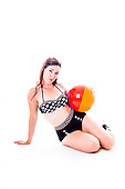 2015 Polka Dot Swimsuit - Kittieal