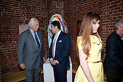 SIR EVELYN DE ROTHSCHILD;  CYRUS VANDREVALA; PRIA VANDREVELA,  The launch party for Elephant Parade hosted at the house of  Jan Mol. Covent Garden. London. 23 June 2009.