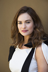 June 13, 2017 - Hollywood, California, U.S. - LILY JAMES stars in Baby Driver. Lily Chloe Ninette Thomson (born April 5, 1989), known as Lily James, is an English actress. She played Lady Rose Aldridge in the ITV period drama Downton Abbey and the title role in the 2015 Disney film Cinderella. Guernsey, Little Woods, Darkest Hour, Baby Driver. (Credit Image: © Armando Gallo via ZUMA Studio)