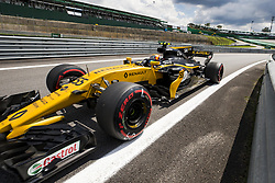 November 10, 2017 - Sao Paulo, Sao Paulo, Brazil - Nov, 2017 - Sao Paulo, Sao Paulo, Brazil - CARLOS SAINZ/Renault. Free practice this Friday (10), for the Brazilian Grand Prix of Formula One that takes place next Sunday at the Autodromo de Interlagos in São Paulo. (Credit Image: © Marcelo Chello via ZUMA Wire)