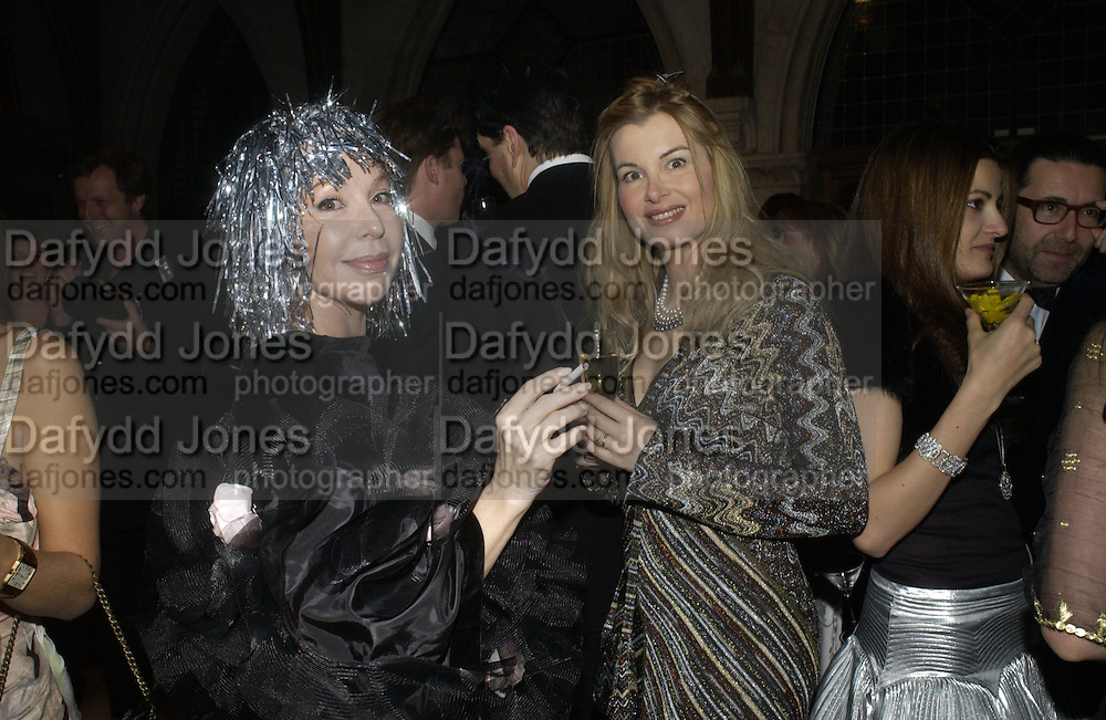 Lolicia Aitken and Claudia Fox Linton. Andy and Patti Wong host  party to cleebrate then Chinese New Year of the Dog. Royal Courts of Justice. Strand. London. 28 January 2006. © Copyright Photograph by Dafydd Jones 66 Stockwell Park Rd. London SW9 0DA Tel 020 7733 0108 www.dafjones.com