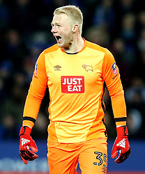 Jonathan Mitchell of Derby County screams out to his teammates - Mandatory by-line: Robbie Stephenson/JMP - 08/02/2017 - FOOTBALL - King Power Stadium - Leicester, England - Leicester City v Derby County - Emirates FA Cup fourth round replay