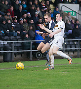 Dundee&rsquo;s Greg Stewart and Dumbarton&rsquo;s Mark Docherty tussle for the ball - Dumbarton v Dundee, William Hill Scottish Cup fifth round at The Cheaper Insurance Direct Stadium <br /> <br />  - &copy; David Young - www.davidyoungphoto.co.uk - email: davidyoungphoto@gmail.com