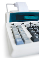 Close-up of pushbuttons of financial calculator