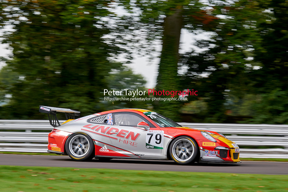 #79 Will PLANT Porsche 991 GT3 during GT Cup - Qualifying as part of the MSVR Oulton Park 10th October 2015 at Oulton Park, Little Budworth, Cheshire, United Kingdom. October 10 2015. World Copyright Taylor/PSP. Copy of publication required for printed pictures.  Every used picture is fee-liable. http://archive.petertaylor-photographic.co.uk