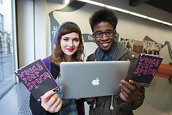 Repro Free: 04/02/2013.Eadaoin Barrett (age 17) and Jerry Iwu (age 16) from Newbridge are pictured at an event to mark Safer Internet Day and to launch A new cyber bullying report. Safer Internet Day 2013 marks the launch of two new initiatives for 2013 - The 'Watch your Space' public awareness anti cyber-bullying campaign and a new Garda Primary Schools Programme module 'Connect with Respect', which deals with online bullying. For further information visit, www.watchyourspace.ie. Picture Andres Poveda (age 16) from Newbridge are pictured at an event to mark Safer Internet Day and to launch A new cyber bullying report. Safer Internet Day 2013 marks the launch of two new initiatives for 2013 - The 'Watch your Space' public awareness anti cyber-bullying campaign and a new Garda Primary Schools Programme module 'Connect with Respect', which deals with online bullying. For further information visit, www.watchyourspace.ie. Picture Andres Poveda