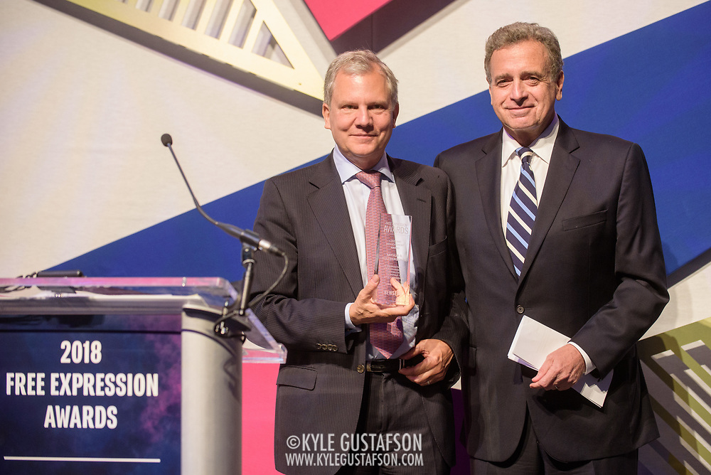 Arthur Sulzberger Jr. at the 2018 Free Expression Awards at The Newseum
