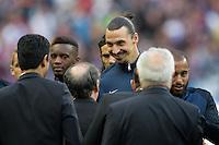 Nasser Al Khelaifi / Noel Le Graet / Zlatan Ibrahimovic - 30.05.2015 - Auxerre / Paris Saint Germain - Finale Coupe de France<br />Photo : Andre Ferreira / Icon Sport