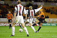 Photograph: Scott Heavey.<br />Wolverhampton Wanderers v Darlington.  Carling Cup 2nd  Round. 23/09/2003.<br />Alex Rae fires Wolves in to a first lead.