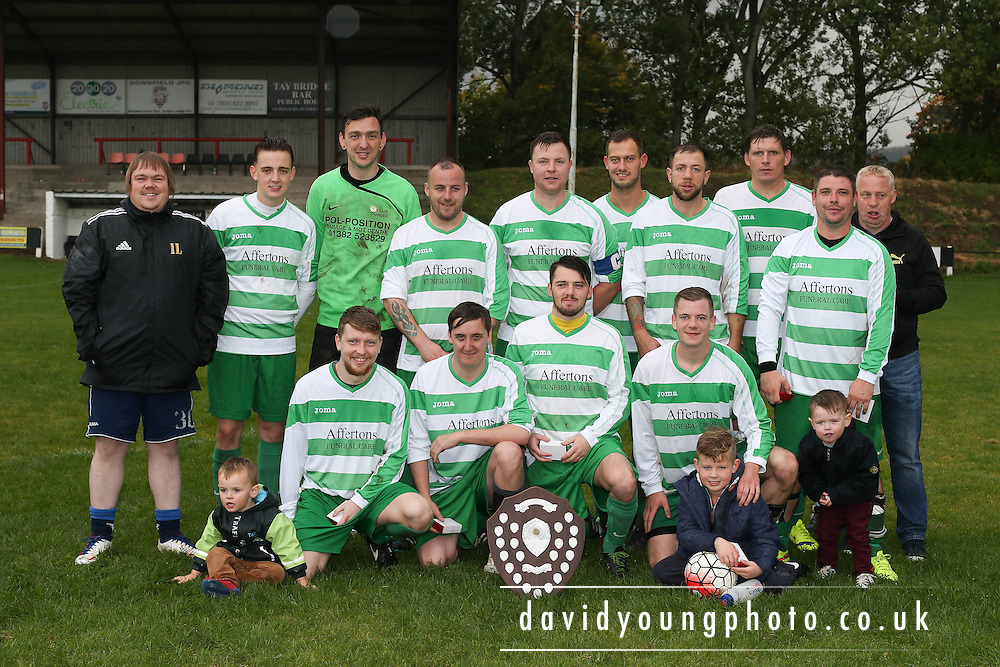 Loch with the trophy - Dundee Summer Football League Charity Cup Final at Downfield Park<br /> <br />  - &copy; David Young - www.davidyoungphoto.co.uk - email: davidyoungphoto@gmail.com