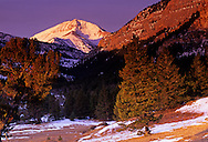 Rocky Mountain Peak in the Rocky Mountain Front. West of Choteau, Montana