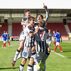 Dunfermline&rsquo;s Faissal El Bahktaoui cele scoring their first goal. <br /> Dunfermline 7 v 1 Cowdenbeath, SPFL Ladbrokes League Division One game played 15/8/2015 at East End Park.