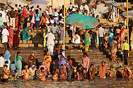 People, crowd at the river.<br />