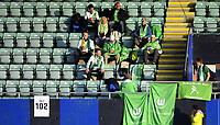 Fotball<br /> UEFA Womes Champions League<br /> Round 32 - 1st Leg<br /> 08.10.2014<br /> Stabæk v Wolfsburg<br /> Foto: Morten Olsen, Digitalsport<br /> <br /> Wolfsburg fans at the tribune prior to kick off