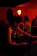 Woman at Yugongyishan club, Beijing, China.