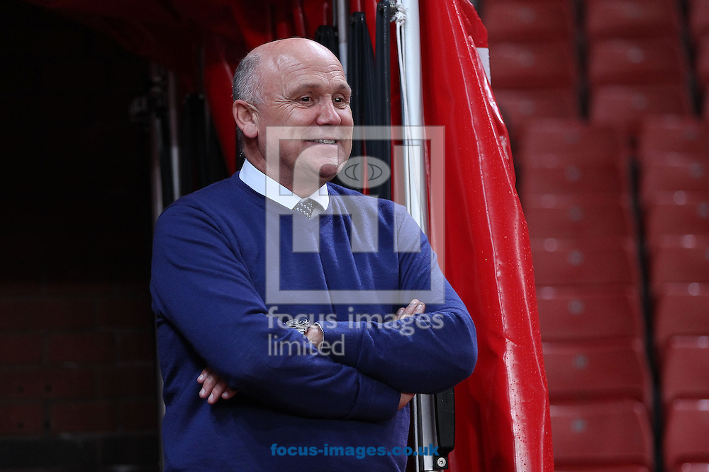 Hull City manager Mike Phelan watches the warmup from the tunnel prior to the EFL Cup match against Stoke City at the Bet 365 Stadium, Stoke-on-Trent.<br /> Picture by Michael Sedgwick/Focus Images Ltd +44 7900 363072<br /> 21/09/2016