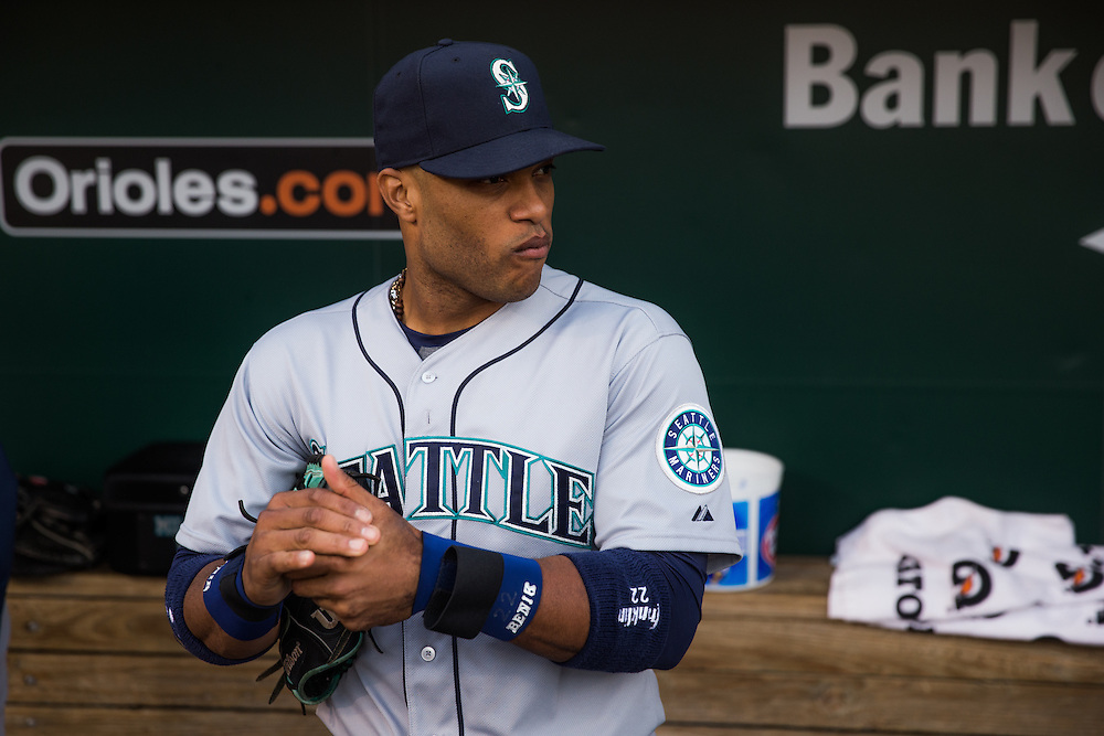 BALTIMORE, MD - MAY 20:  Robinson Cano #22 of the Seattle Mariners looks on before the game against the Baltimore Orioles at Oriole Park at Camden Yards on May 20, 2015 in Baltimore, Maryland. (Photo by Rob Tringali) *** Local Caption *** Robinson Cano
