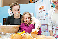 Armed with their brand new no mess flour tubs, The Odlums Roadshow came to Galway Shopping Centre on Saturday. Shoppers queued up to watch icing demo's, win Odlums goodies and taste the delicious Odlums cakes. The Great Irish Bakeoff sponsored by Odlums had contributed to a renewed interest in baking nationwide' . At the event was From Mountbellew Aoife Fallon and cousin Jasmin Fallon from the Caymen Islands  .  Photo:Andrew Downes.
