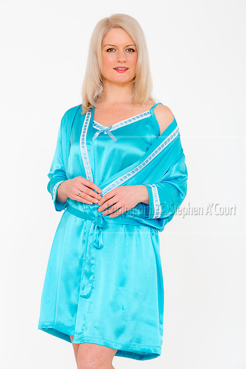 Satin Gown & Robe Blue. Photo credit: Stephen A'Court.  COPYRIGHT ©Stephen A'Court