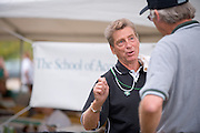 19058Homecoming 2008: Football Game OHIO vs. Virginia Military Institute... Thomas Starr, BBA '69 talks to Ken Hartung