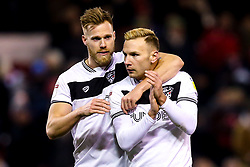 Andreas Weimann of Bristol City and Tomas Kalas of Bristol City celebrate victory over Nottingham Forest - Mandatory by-line: Robbie Stephenson/JMP - 19/01/2019 - FOOTBALL - The City Ground - Nottingham, England - Nottingham Forest v Bristol City - Sky Bet Championship