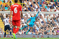 LONDON, ENGLAND - Saturday, August 27, 2016: Tottenham Hotspur's goalkeeper Michel Vorm makes a save during the FA Premier League match against Liverpool at White Hart Lane. (Pic by David Rawcliffe/Propaganda)